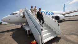 The flydubai Delegation led by Sudhir Sreedharan disembarks in Asmara.jpg